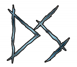 DS logo MetalBlue n Black